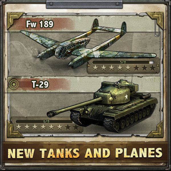 Get hot new planes and tanks in Liberators!